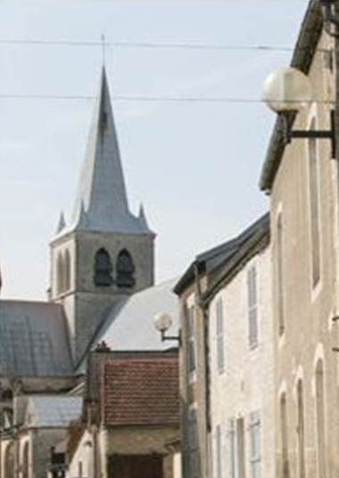 La maison Clergeot est située dans le village des Riceys...